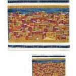 Ensemble pochette talit pochette Vue de Jérusalem