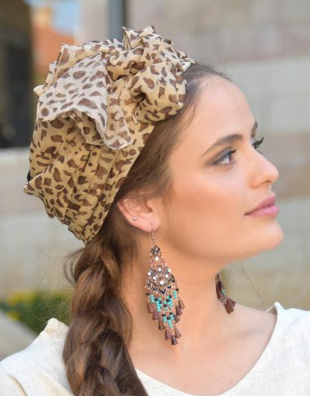Foulard-motifs léopard