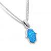 Pendentif Hamsa bleu