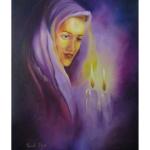 Tableau juif allumage bougies Chabbat