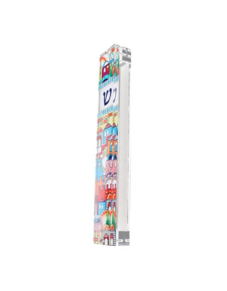 Mezouza Ville de Jérusalem- couleurs vives 2