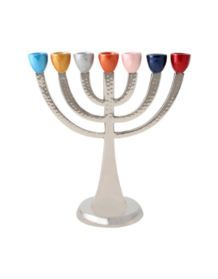 Menorah colorée