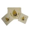 Pochettes talit Tefilines Flamme Breslev-Velours blanc
